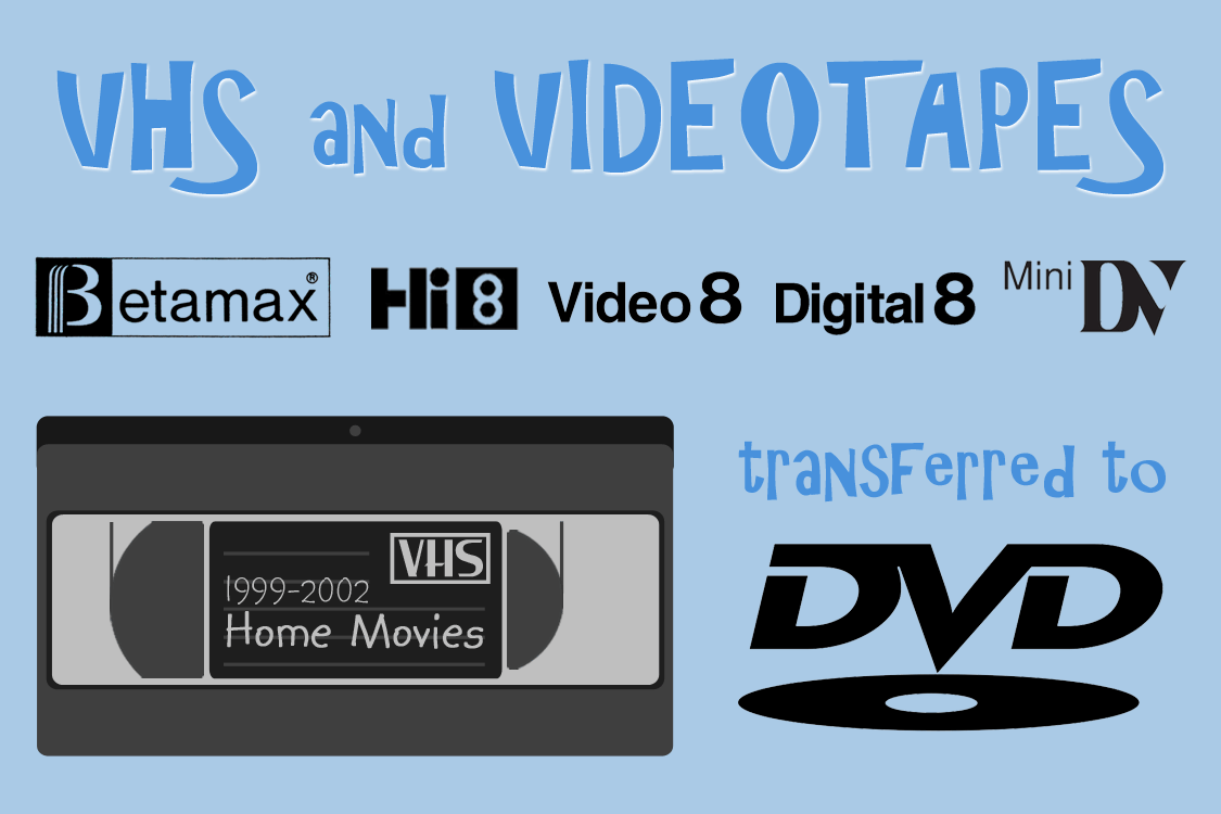 O.K. Video VHS & TAPE FORMATS TO DVD
