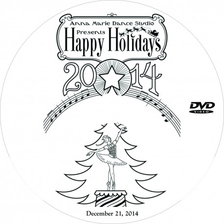 "Anna Marie Dance Studio ""Happy Holidays,"" December 20 & 21, 2014 Show DVDs"