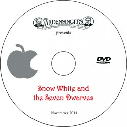 "Ardensingers ""Snow White and the Seven Dwarves,"" Friday, November 21, 2014 Show DVD"