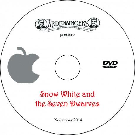 "Ardensingers ""Snow White and the Seven Dwarves,"" Friday, November 21, 2014 Show DVD"