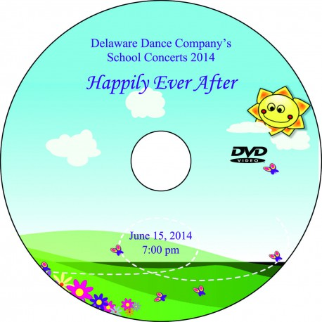 """Delaware Dance Company """"Happily Ever After,"""" June 15, 2014, 1:00, 4:00 & 7:00 PM Student Concert DVDs"""