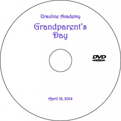 "Ursuline Academy ""Grandparents' Day"" Wednesday, April 16, 2014 DVD"