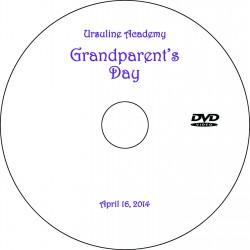 "Ursuline Academy ""Grandparents' Day"" Wednesday, April 16, 2014 DVD"