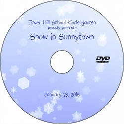 "Tower Hill School Kindergarten ""Snow In Sunnytown,"" Friday, January 23, 2015 Show DVD"