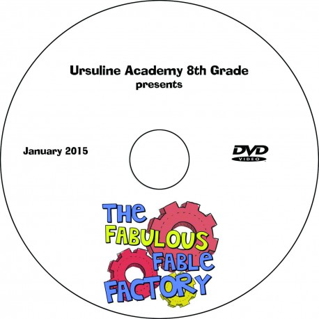 "Ursuline Academy ""Eighth Grade Play,"" Friday, January 23, 2015 Show DVD"