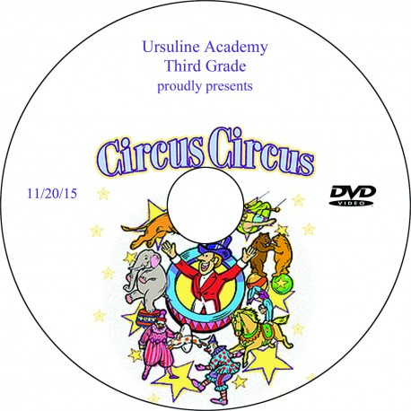 "Ursuline Academy ""Third Grade Play,"" Friday, November 20, 2015 Show DVD"