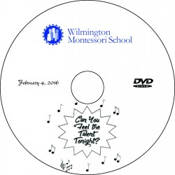 "Wilmington Montessori School ""Talent Show,"" Thursday, February 4, 2016 Evening Show DVD"