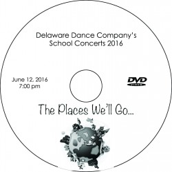 "Delaware Dance Company ""2016 School Concerts,"" Sunday, June 12, 2016, 1:00,   4:00 & 7:00 DVDs"