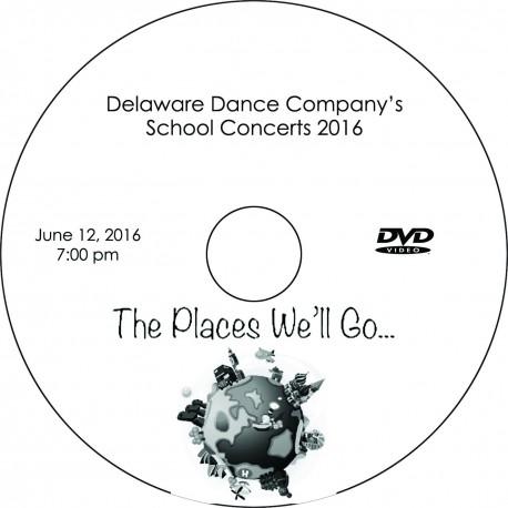 "Delaware Dance Company ""2016 School Concerts,"" Sunday, June 12, 2016, 1:00,   4:00 & 7:00 DVDs"