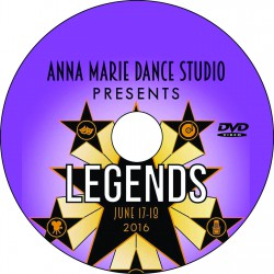 "Anna Marie Dance Studio ""Legends,"" Friday, June 17, 2016 Recital DVD"
