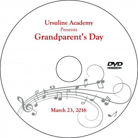"""Ursuline Academy """"Grandparents' Day,"""" Wednesday, March 23, 2016 DVD"""