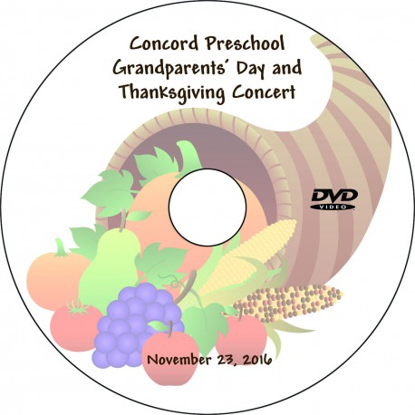 "Concord Preschool & Child Care ""Grandparents' Day,"" Wednesday, November 23, 2016 DVD / Blu-ray"