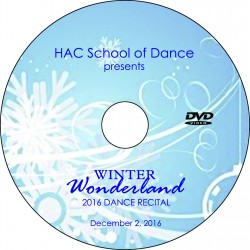"Hockessin Athletic Club School Of Dance ""Winter Wonderland,"" Saturday, December 3, 2016, 2:00 Show DVD / Blu-ray"