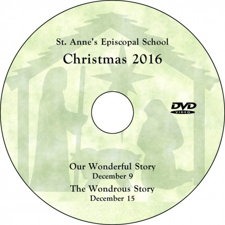 "St. Anne's Episcopal School ""Christmas Concerts 2016,"" Two-Show (December 9 & 15 2016) Combination DVD / Blu-ray"