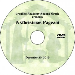 "Ursuline Academy Second Grade ""Christmas Pageant,"" Tuesday, December 20, 2016 DVD / Blu-ray"