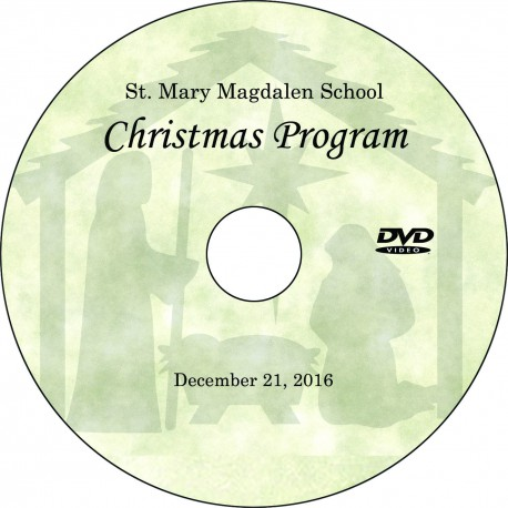 "St. Mary Magdalen School ""Christmas Program,"" Wednesday, December 21, 2016, 8:15 Show DVD / Blu-ray"