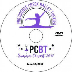 "Providence Creek Ballet Theater ""Summer Concert 2017,"" Saturday & Sunday, June 17 & 18, 2017 DVD / Blu-ray"