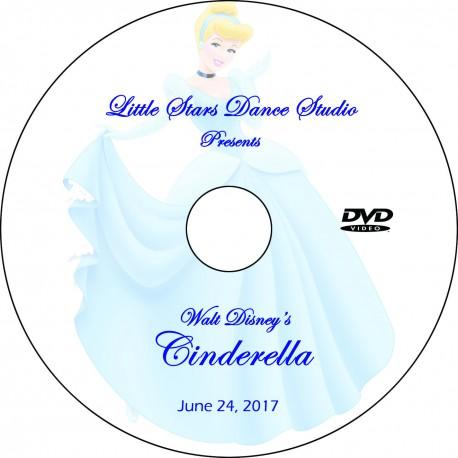 "Little Stars Dance Studio ""Walt Disney's Cinderella,"" Saturday, June 24, 2017 Recital DVD / Blu-ray"