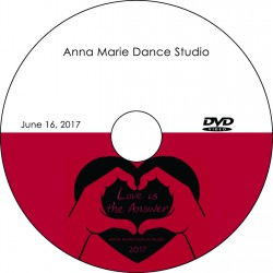"Anna Marie Dance Studio ""Love Is The Answer,"" Friday, June 16, 2017 Recital DVD / Blu-ray"