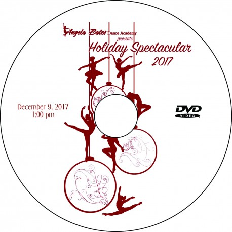 """Angela Bates Dance Academy  """"Holiday Spectacular,"""" December 9, 2017 1:00 & 5:00 Shows DVDs / Blu-rays"""