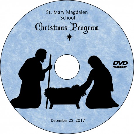 "St. Mary Magdalen School ""Christmas Program,"" Friday, December 22, 2017 8:15 Show DVD / Blu-ray"