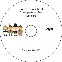 "Concord Preschool & Child Care ""Grandparents' Day,"" Wednesday, November 22, 2017 DVD / Blu-ray"