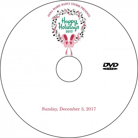 "Anna Marie Dance Studio ""Holiday Show,"" Sunday, December 3, 2017 DVD / Blu-ray"