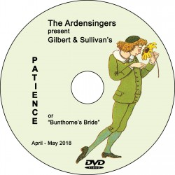 "Ardensingers ""Patience,"" Saturday, May 5, 2018 DVD / Blu-ray"