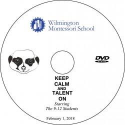 "Wilmington Montessori School ""9-12 Talent Show,"" Thursday, February 1, 2018 Evening Show DVD / Blu-ray"