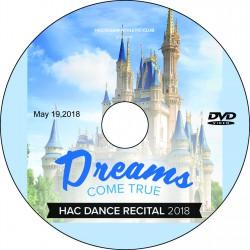 "Hockessin Athletic Club ""Dreams Come True"" Recital, Saturday, May 19, 2018, 1:00 & 6:00 Show DVD / Blu-ray"