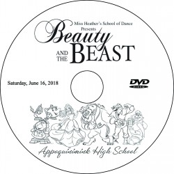 "Miss Heather's School of Dance ""Beauty and the Beast,"" Saturday & Sunday, June 16 & 17, 2018 Recital DVD / Blu-ray"