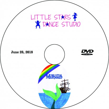 "Little Stars Dance Studio ""The Little Mermaid,"" Saturday, June 23, 2018 Recital DVD / Blu-ray"