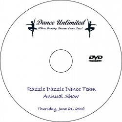 "Dance Unlimited ""2018 Dance Team Show,"" Thursday, June 21, 2018 DVD / Blu-ray"