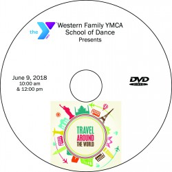 "Western Family Y School of Dance ""Around the World"" Recitals, Saturday, June 9, 2018 DVD / Blu-ray 2-Disc Sets"