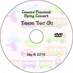 "Concord Preschool & Child Care ""Things That Go,"" Wednesday, May 9, 2018 DVD / Blu-ray"