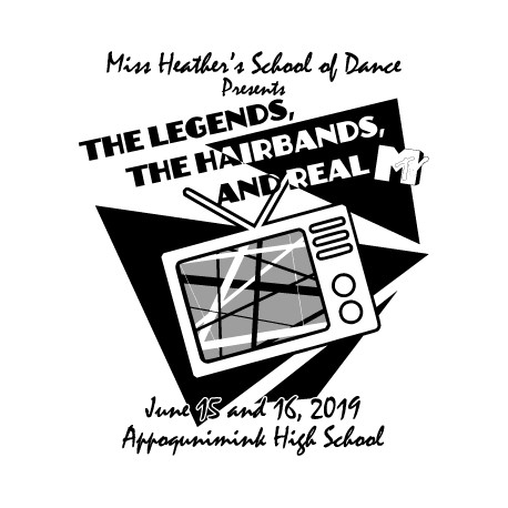 "Miss Heather's School of Dance ""The Legends, The Hair Bands and Real MTV,"" June 2019 Recital DVD / Blu-ray"