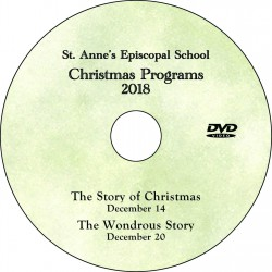 "Saint Anne's Episcopal School ""Christmas Concerts 2018,"" Two-Show (December 14 & 20) Combo DVD / Blu-ray"