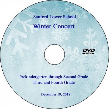 Sanford School: Lower School Winter Concerts, Wednesday, December 19, 2018 DVD / Blu-ray