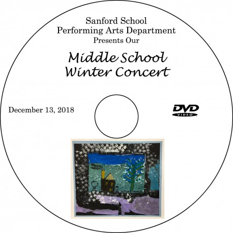 Sanford School: Middle School Winter Concert, Thursday, December 13, 2018 DVD / Blu-ray