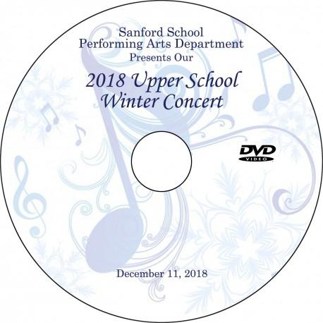 Sanford School: Upper School Winter Concert, Tuesday, December 11, 2018 DVD / Blu-ray