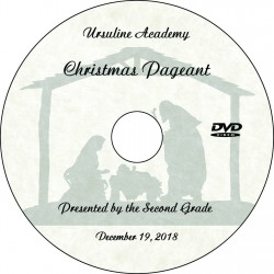 "Ursuline Academy Second Grade ""Christmas Pageant,"" Wednesday, December 19, 2018 DVD / Blu-ray"