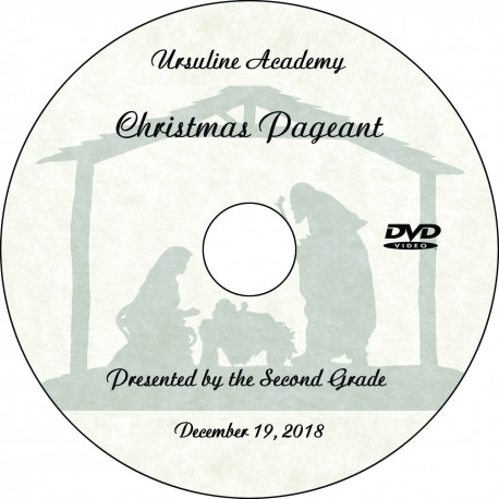 "Ursuline Academy Second Grade ""Christmas Pageant,"" Wednesday, December 19, 2018 DVD / Blu-ray"
