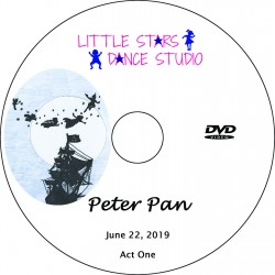 "Little Stars Dance Studio ""Peter Pan,"" Saturday, June 22, 2019 Recital DVD / Blu-ray"