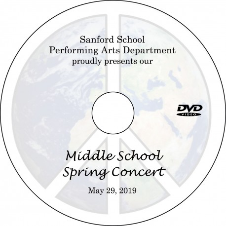 Sanford School: Middle School Spring Concert, Wednesday, May 29, 2019 DVD / Blu-ray