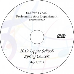 Sanford School: Upper School Spring Concert, Thursday, May 2, 2019 DVD / Blu-ray