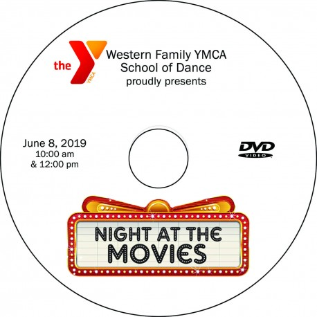 "Western Family Y School of Dance ""Movies"" Recitals, Saturday, June 8, 2019 DVD / Blu-ray 2-Disc Sets"
