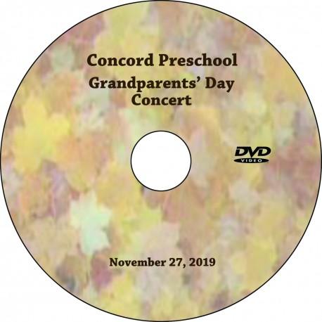 """Concord Preschool & Child Care """"Grandparents' Day,"""" November 27, 2019"""
